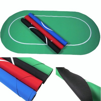 Blue Rubber Poker Mat