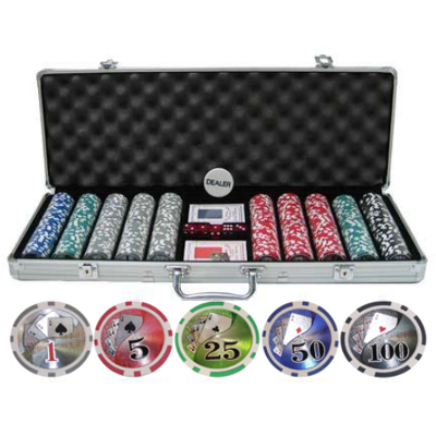 CP113 500 Piece Poker Chip Set